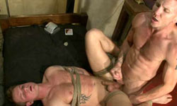 Stud slave gets tied up