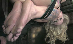 Blonde beauty tortured