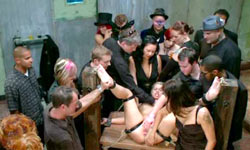 Blonde on BDSM orgy